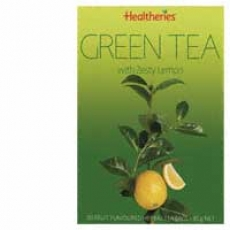 Healtheries Green Tea Bags With Zesty Lemon贺寿利柠檬绿茶50个
