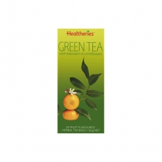 Healtheries Green Tea Bags With Mandarin贺寿利橘子绿茶茶包20个