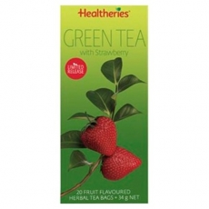 Healtheries Green Tea Bags With Strawberry贺寿利草莓绿茶茶包20个