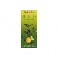 Healtheries Green Tea Bags With Lemon贺寿利柠檬绿茶茶包20个