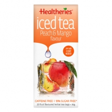 Healtheries Iced Tea Bags Peach & Mango贺寿利甜桃芒果水果茶包20个