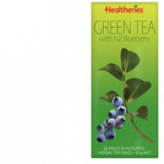 Healtheries Green Tea With Nz Blueberry贺寿利蓝莓绿茶茶包20个