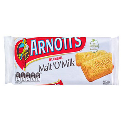 Arnotts Malt Biscuits Malt O Milk雅乐思牛奶饼干250克